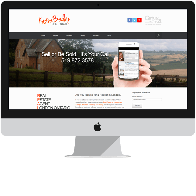 real estate website design london ontario