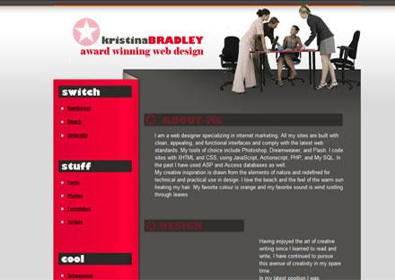 Kristina Bradley web designer