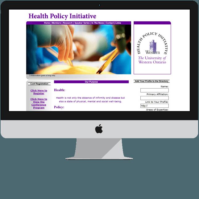 London University website designed for committee